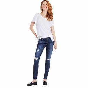 AG Blue Distressed The Legging Ankle Super Skinny Jean 29